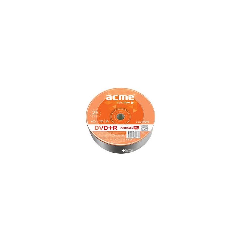 ACME DVD+R 4,7GB/4x 25-torn prinditav EOL