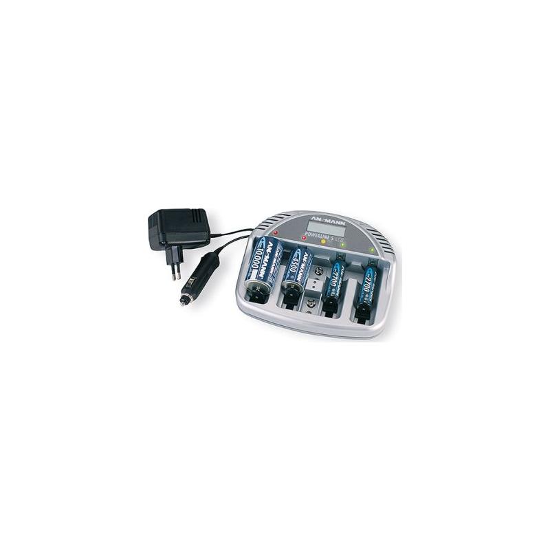 "Ansmann laadija ekraaniga ""Powerline 5 LCD"" , AAA, AA, C, D, 9v EOL"