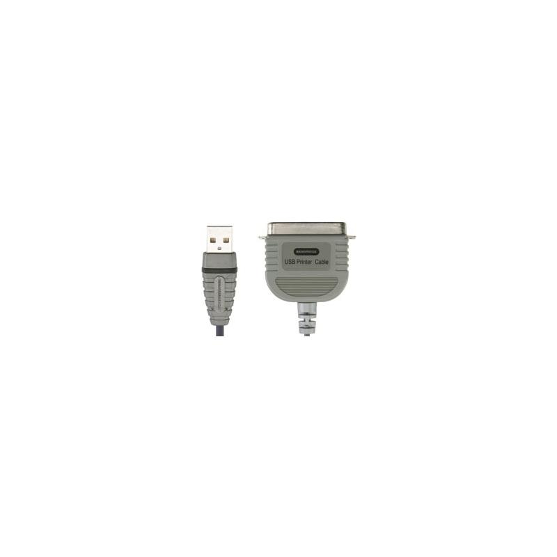 Bandridge BCP5102 USB 2.0 A otsik–paralleel printer otsik 2m