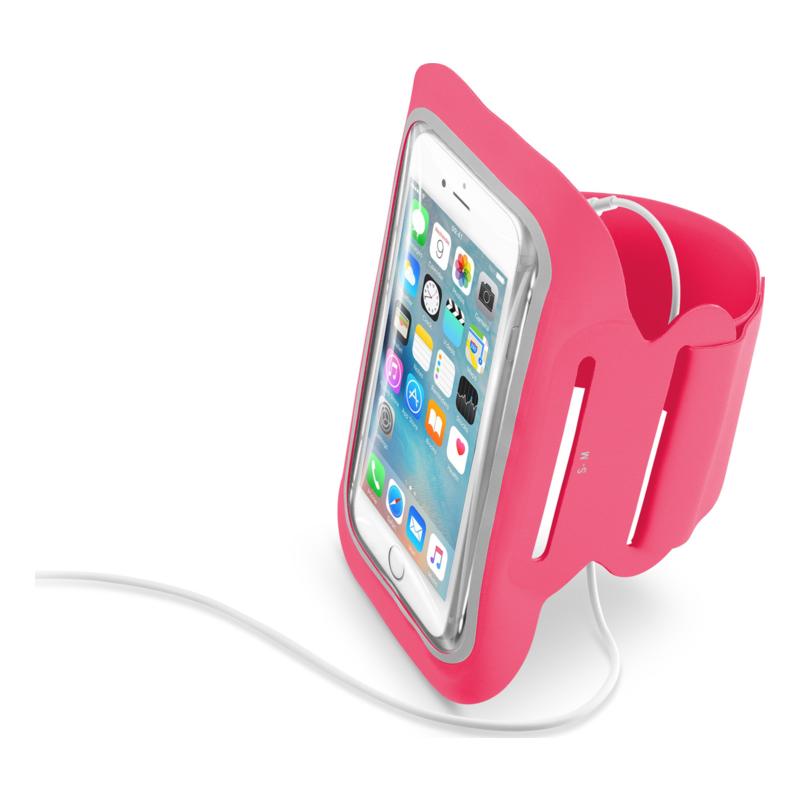 """Mobiilihoidja käsivarrele Fitness, kuni 5,2"""", roosa"""