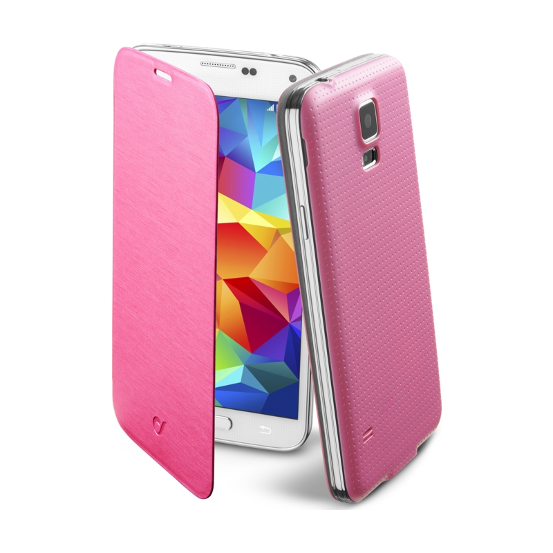 Cellular Samsung Galaxy S5 ümbris, Flip Book, roosa EOL