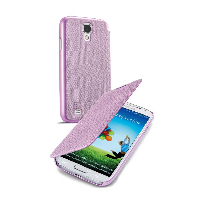 Cellular Samsung Galaxy S4 ümbris, Book Glitter, roosa EOL