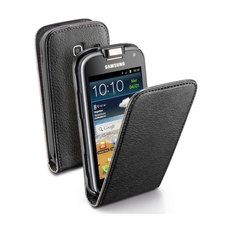 Cellular Samsung Ace 2 I8160 ümbris, Flap (magnetiga), must EOL