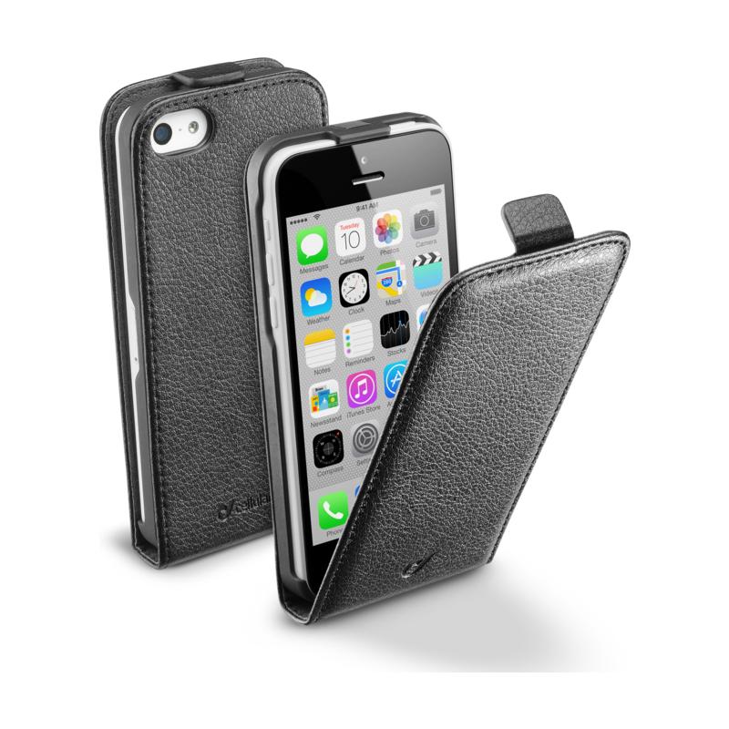 Cellular iPhone 5C ümbris, Flap (magnetiga), must