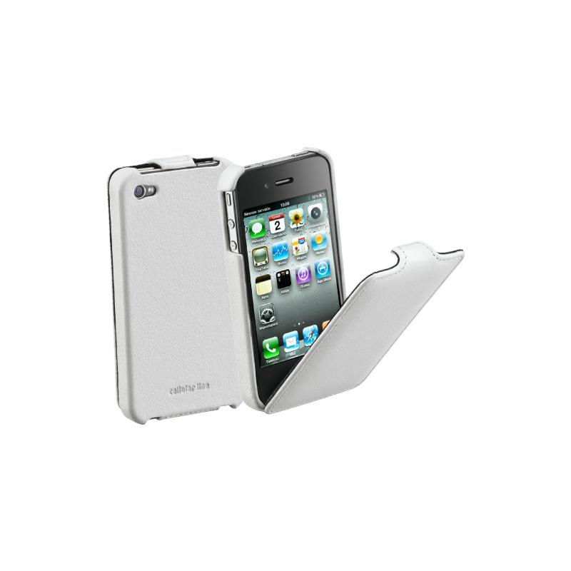 Cellular iPhone 4/4S ümbris,Flap, valge