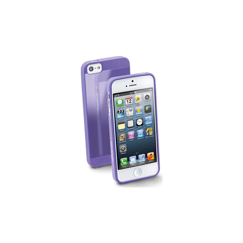 Cellular iPhone 5 ümbris, kummist, slim, lilla EOL
