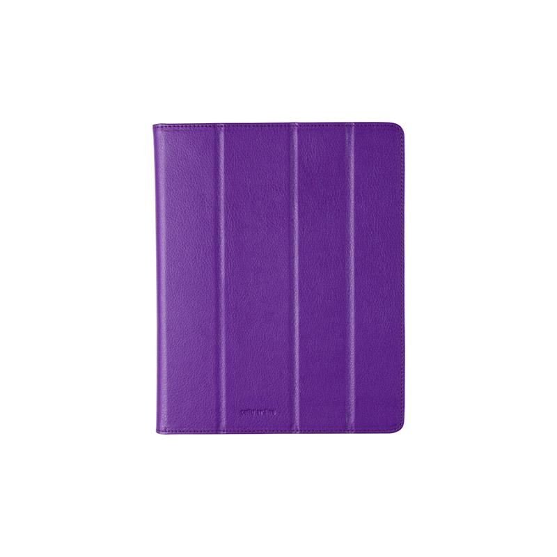 Cellular iPad 2/3 ümbris, kunstnahk, magnetiga, lilla EOL