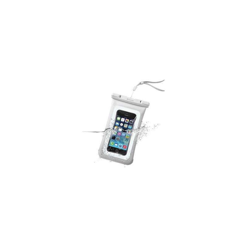"""Cellularline vee- ja tolmukindel kott mobiiltelefonidele kuni 5,8"""", 3,5mm pesa, valge EOL"""