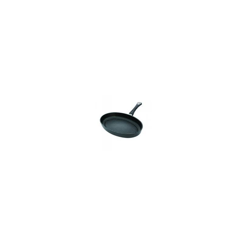 Kala-grillpann 35x24x5cm, valualumiinium, paksus 9-10mm, mittenakkuv Lotan kate, ahjukindel käepide (240*C)
