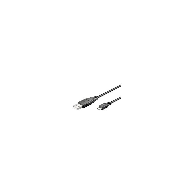 USB 2.0 A otsik - USB Micro B otsik 1.0m EOL