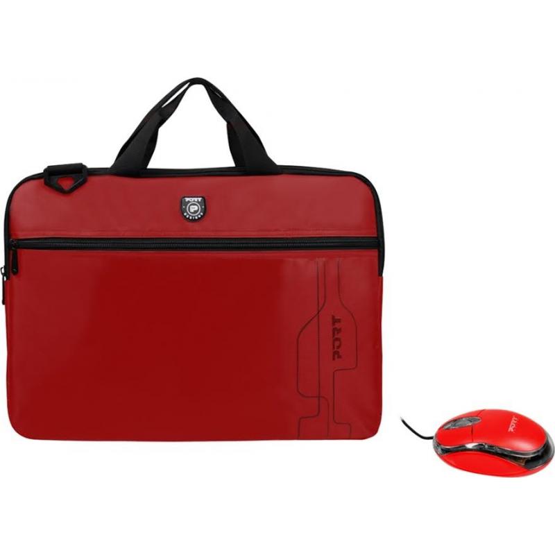 "Port Designs sülearvuti kott ""POLARIS"" 15,6"" + Hiir punane"