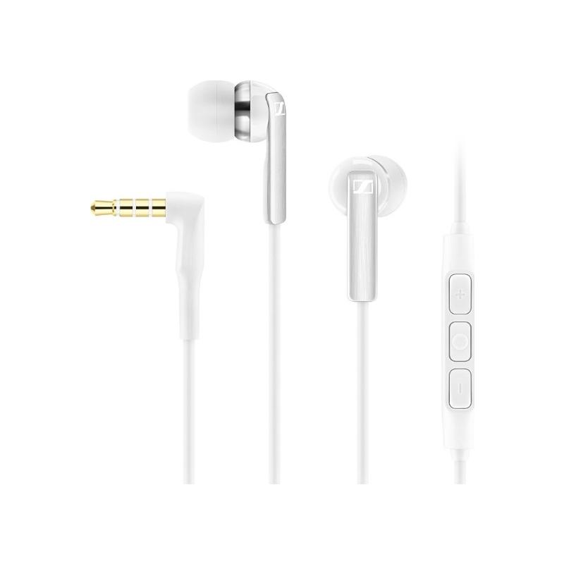 Sennheiser CX2.00 membraankõrvaklapid mikrofoniga Applile valged