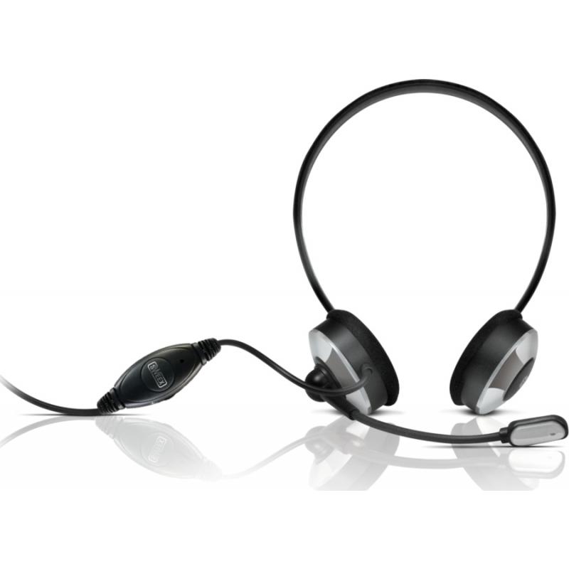 Sweex kõrvaklapid mikrofoniga, hõbedased EOL