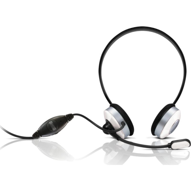 Sweex kõrvaklapid mikrofoniga, valge EOL