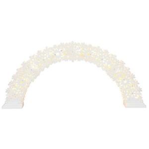Adv.kaar Valge, laserlõikega puidust 57x26,5cm, 11 LED, 230V-4,5V DC, IP20