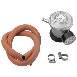 Gaasireduktor manomeetri ja voolikuga, kiirkinnitus, gaasi näidik 30mbar 2kg/h