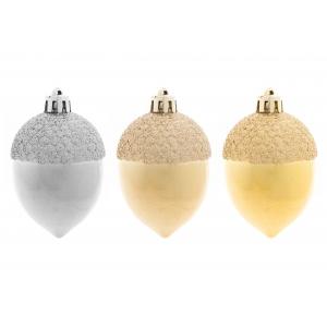 Kuuseehted-Pähkel 2tk 4,5cm Kuldne/Hõbe/ shampanja 12/144