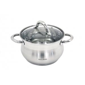 *341089 pott Wellberg 2,9L d.18x11,5cm roostevaba, klaaskaanega /4