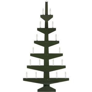Seinakuusk, roheline puidust, 59,5x113,5x5cm, 16x E10 küünalt, 230V, IP44
