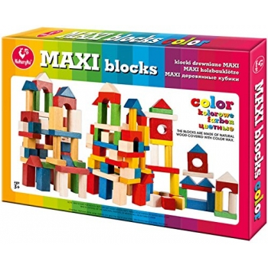Puidust värvilised klotsid maxi-53osa