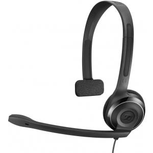 Kõrvaklapid mikrofoniga, PC7, mono peakomplekt, USB