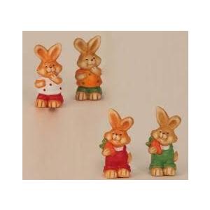 Jänesed dekoratsioonkujud, erinevad, 7,5cm,