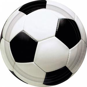 Taldrikud 17,7cm 8tk/pk Jalgpall