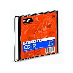 ACME CD-R 700MB 52x print Slim 1tk. EOL