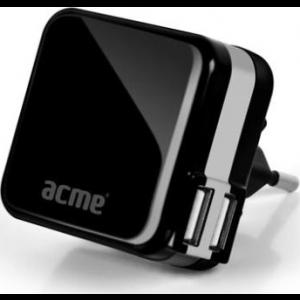 ACME CH07 USB reisilaadija(EUR, USA, UK), 2xUSB pesa, 100-240V EOL