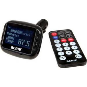 ACME AF200-01 MP3-mängija raadiolainete edastaja ekraaniga autosse, USB pesa+pult