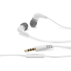 ACME HE15 nööpkõrvaklapid mikrofoniga, valged