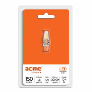 ACME LED G4 1,8W3000K20h150lm