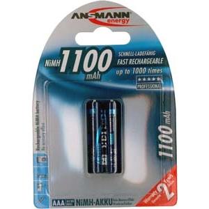Ansmann laetavad akud 2xAAA 1100mAh EOL