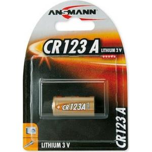 Ansmann liitium patarei 1 x CR123 A / 3 V EOL
