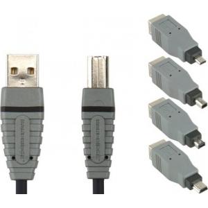 Bandridge BCK400 USB-ühenduskomplekt USB A-B kaabel 2.0m TELL