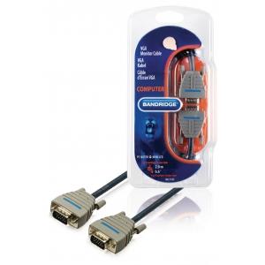 Bandridge BCL1102 VGA Monitori kaabel, 15p otsik-15p otsik 2m