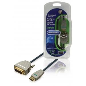 Bandridge BVL1102 HDMI otsik - DVI-D otsik 2.0m