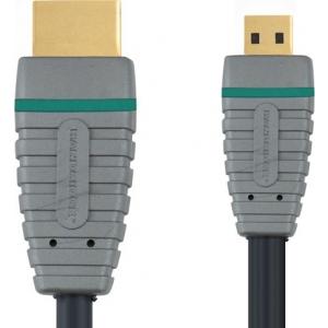 Bandridge BVL1702 HDMI A otsik - HDMI micro otsik 1.4 2m