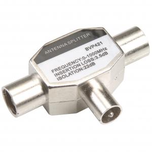 Bandridge BVP421 Antennikaabli jagaja Coax pesa- 2xCoax otsik V-kujuline