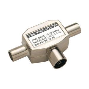 Bandridge BVP425 Antennikaabli jagaja Coax pesa- 2xCoax otsik