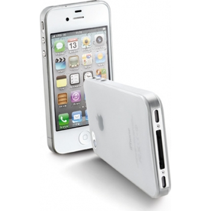 Cellular iPhone 4/4S slim(0,35mm)ümbris,piimjas läbipaistev EOL