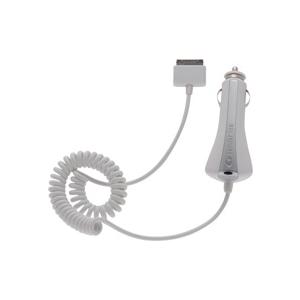 Cellular iPad spiraaljuhtmega autolaadija 12/24V valge EOL