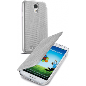 Cellular Samsung Galaxy S4 ümbris, Book Glitter, hõbedane EOL