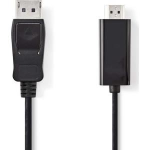 Kaabel DisplayPort otsik - HDMI otsik, kilekotis, 2m