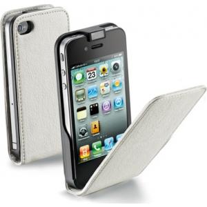 Cellular iPhone 4/4S ümbris, Flap (magnetiga), valge EOL