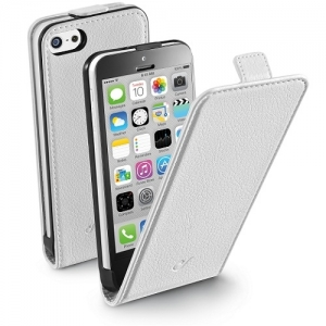 Cellular iPhone 5C ümbris, Flap (magnetiga), valge EOL