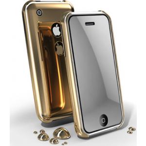 Cellular iPhone 3G kroom ümbris, kuldne+peegel ekraanik. EOL
