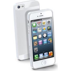 Cellular iPhone 5 ümbris, kummist, slim, valge EOL