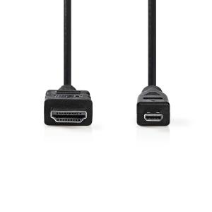 Kaabel HDMI - micro HDMI, 2m, must