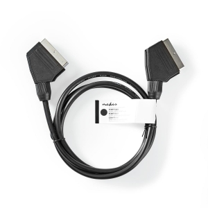 Videokaabel SCART-SCART 1,5m, bulk, must